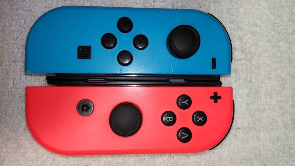 任天堂 ニンテンドースイッチ Nintendo Switch Joy-Con ネオンレッド ネオンブルー ストラップ 中古動作品 送料無料_画像7