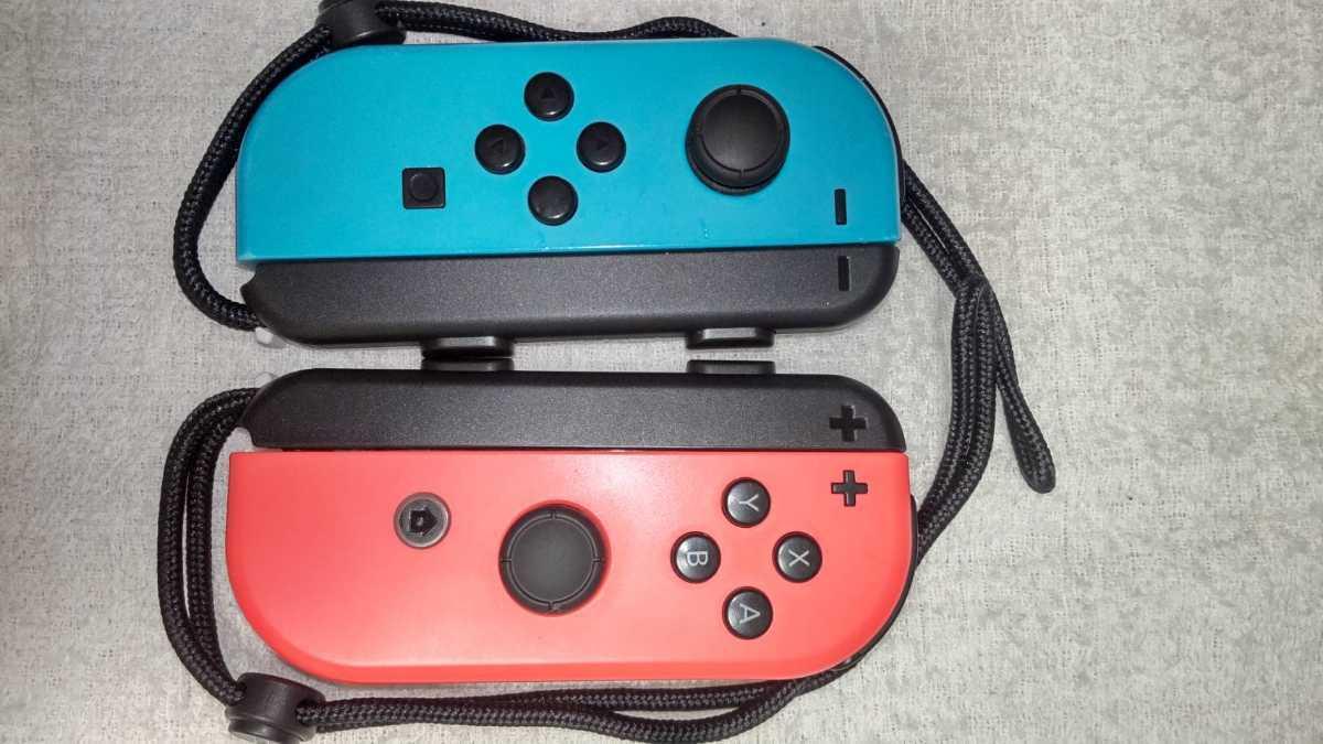 任天堂 ニンテンドースイッチ Nintendo Switch Joy-Con ネオンレッド ネオンブルー ストラップ 中古動作品 送料無料_画像1