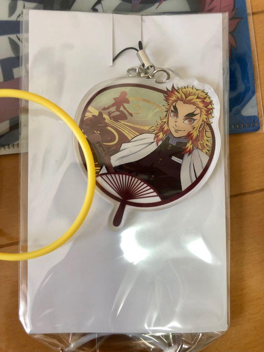 鬼滅の刃 SEGA限定 クリアファイル&アクリルチャーム 煉獄杏寿郎キーホルダー