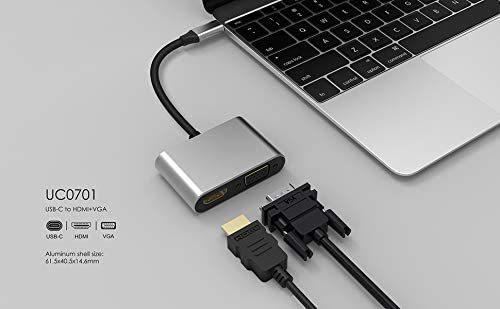 USB Cハブ TypeC HDMI変換アダプター 変換アダプタ2-in-1