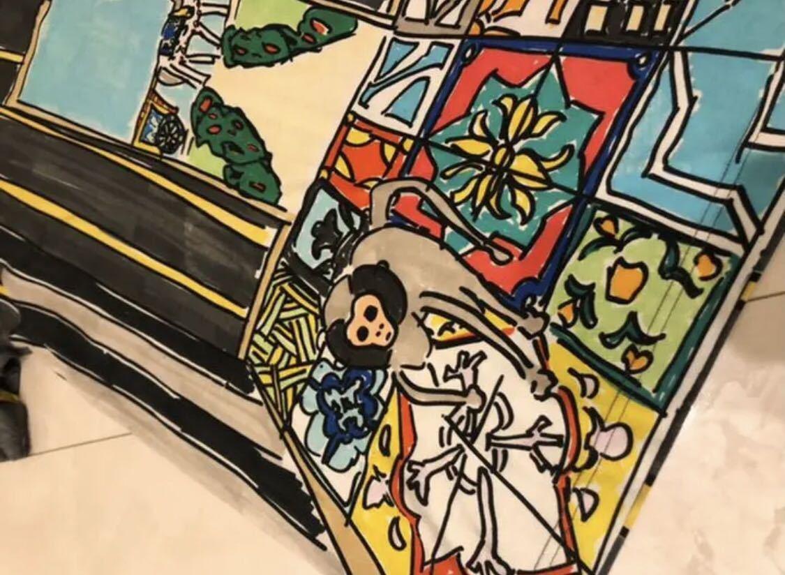 ドルチェ&ガッバーナ dolce&gabbana 動物Tシャツ ドルガバ オーバーサイズ ビッグシルエット サル フクロウ 動物 柄_画像6