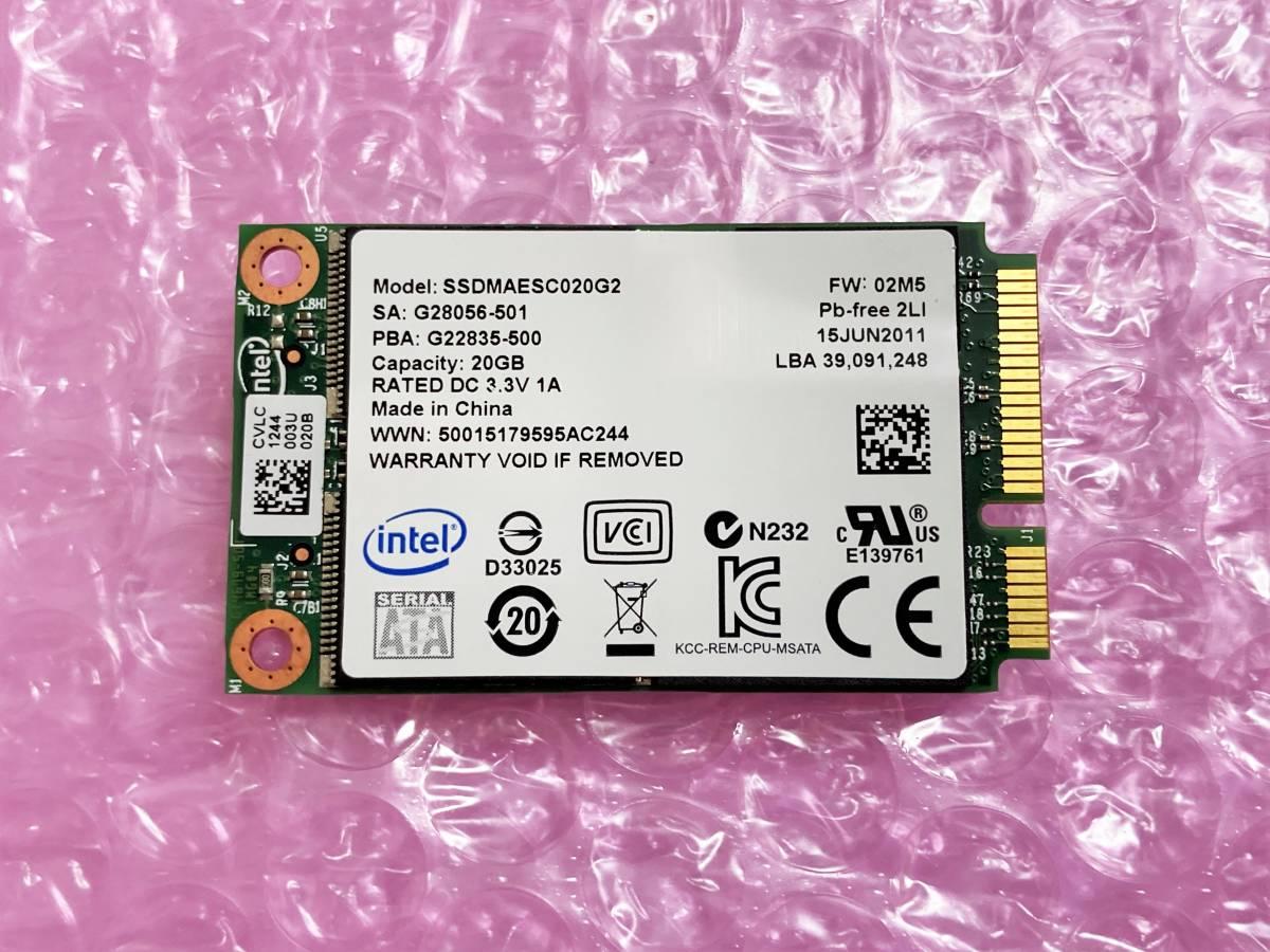 新品同様 Intel 313 mSATA SSD 20GB SLC チップ 高耐久