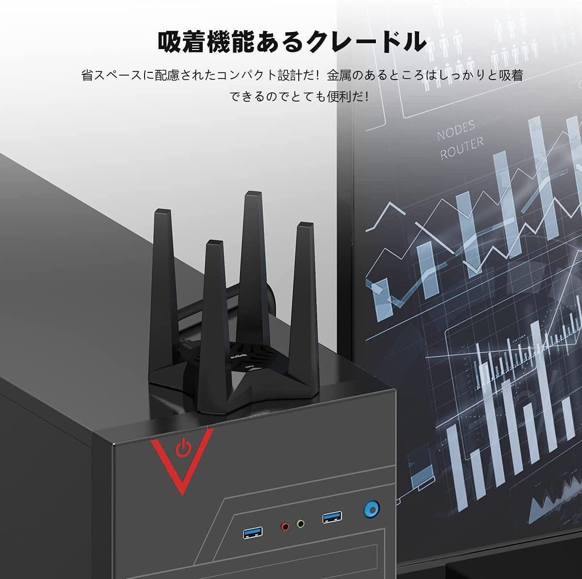 WiFi無線LAN子機 AC1900 デュアルバンド USB3.0 アダプター WiFi