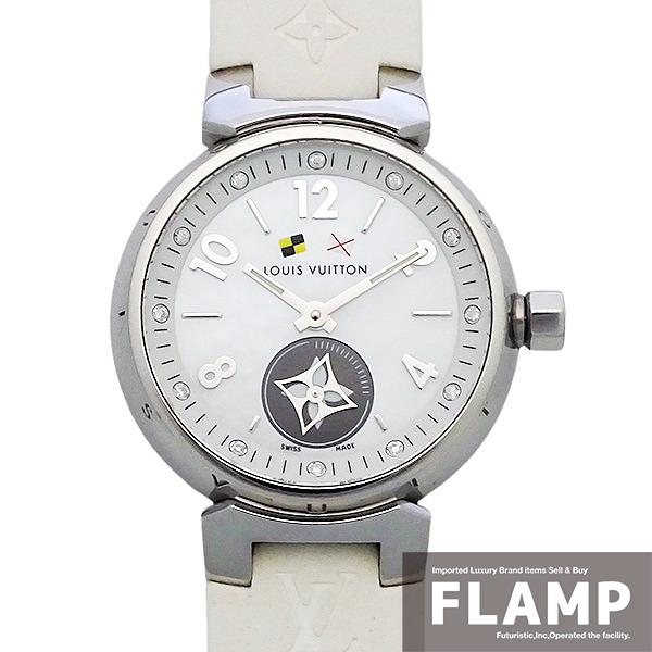 【LOUIS VUITTON ルイヴィトン】タンブール ラブリーカップ 12Pダイヤモンド Q12M0 レディース 腕時計【美品中古】_画像1