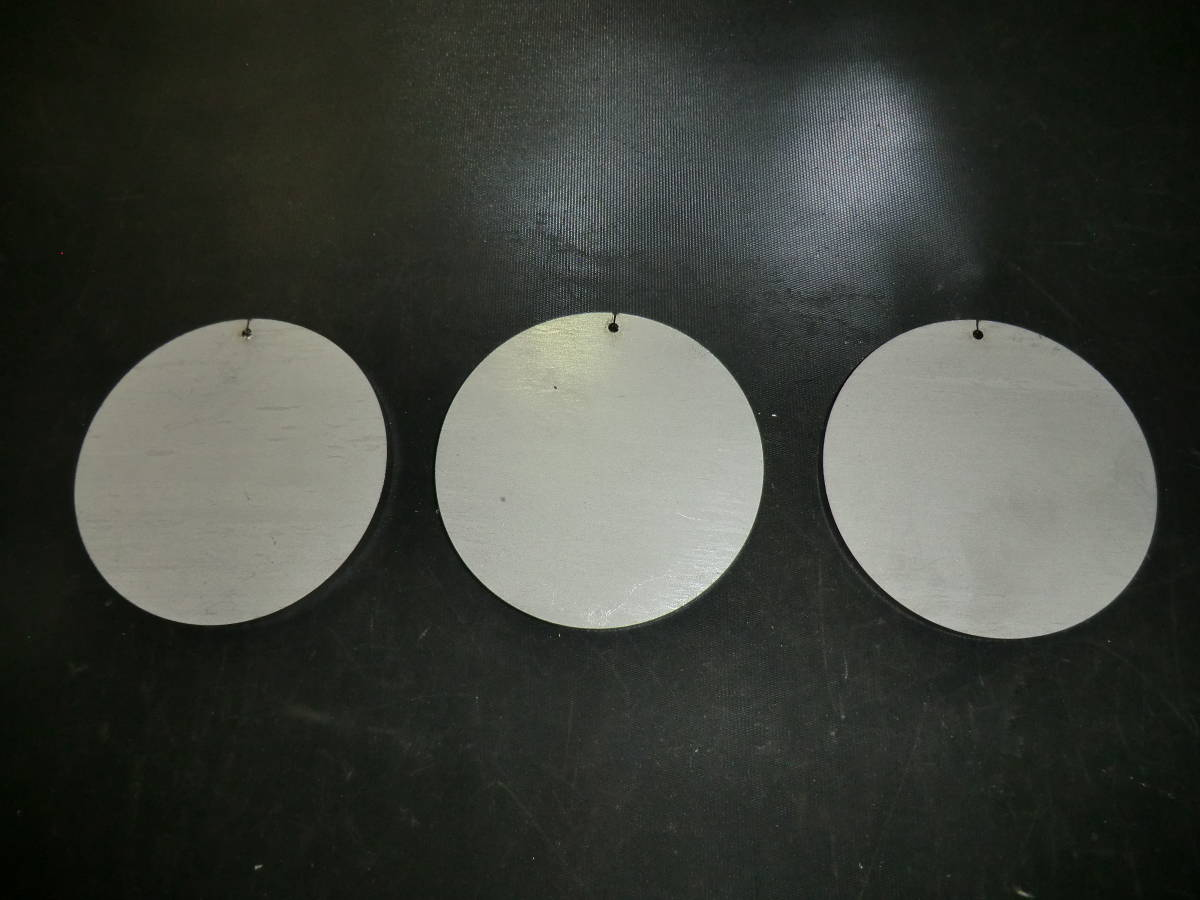 ステンレス304 NO1 約6mm厚 円板 約Φ89.8mm(直径) 3枚_画像1