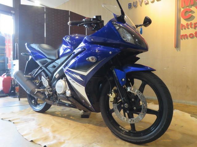 「□ YAMAHA YZF-R15 ME120P ヤマハ 21445km 150cc ブルー 自賠 R7.5 実動! バイク 札幌発」の画像3