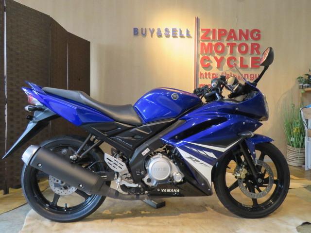 「□ YAMAHA YZF-R15 ME120P ヤマハ 21445km 150cc ブルー 自賠 R7.5 実動! バイク 札幌発」の画像1