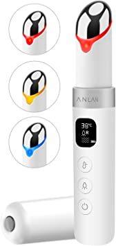 ANLAN 目元ケア 美顔器 イオン導入 温熱ケア 超音波美顔器 3種類光エステ イオン導入美顔器 振動機能 LCDディプレイ _画像1