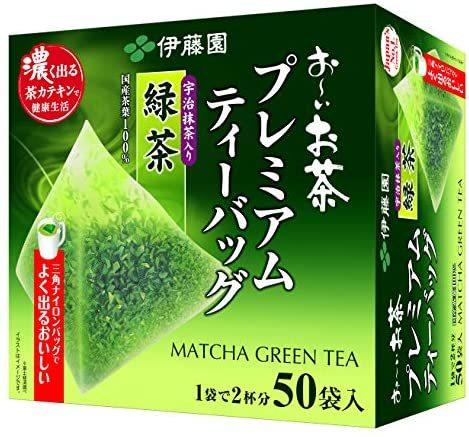 伊藤園 おーいお茶 プレミアムティーバッグ 宇治抹茶入り緑茶 1.8g ×50袋_画像1