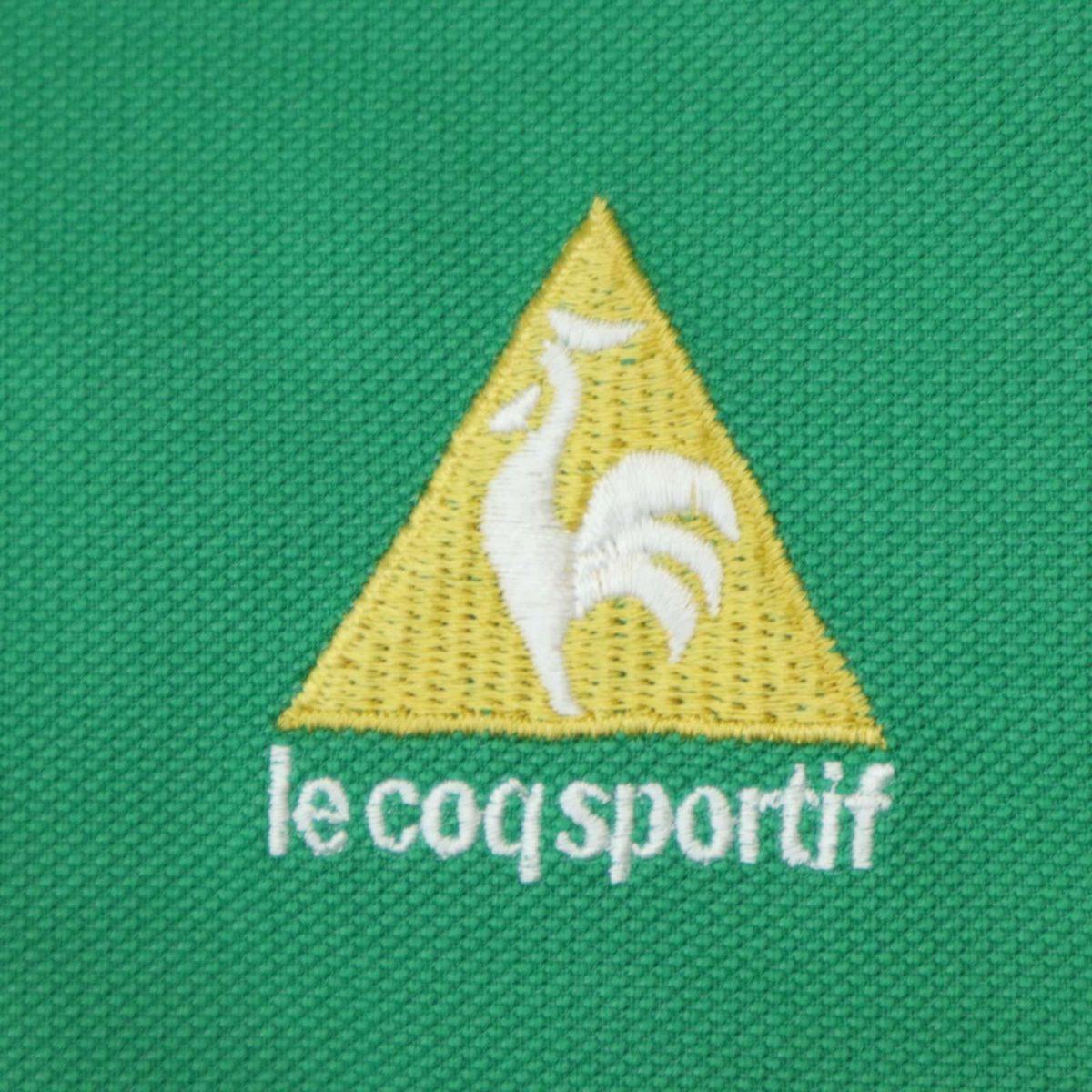 le coq sportif GOLF ルコック スポルティフ ゴルフ ロゴ刺繍★ 半袖 ポロシャツ Sz.M メンズ 緑 A1T08648_7#A_画像4