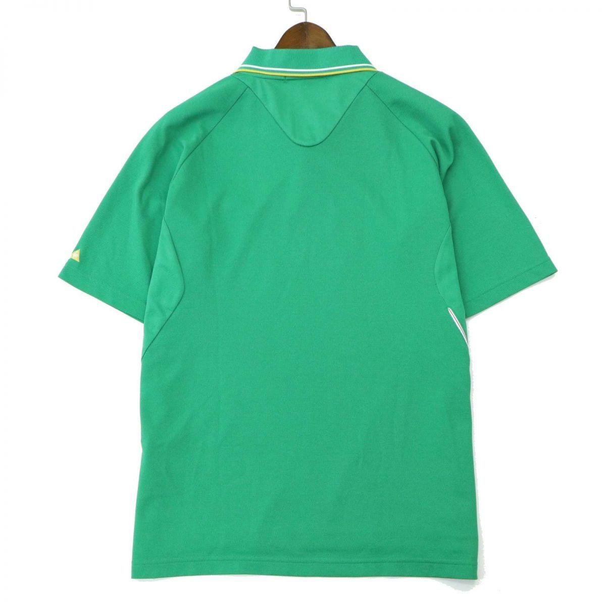 le coq sportif GOLF ルコック スポルティフ ゴルフ ロゴ刺繍★ 半袖 ポロシャツ Sz.M メンズ 緑 A1T08648_7#A_画像5