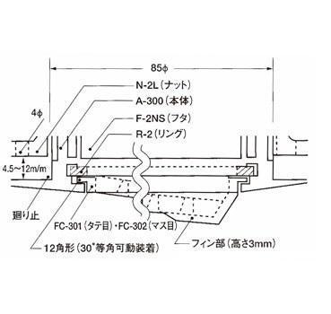 イケダ式 水流調整スカッパー A-301 イケス用フタ(本体)_画像3
