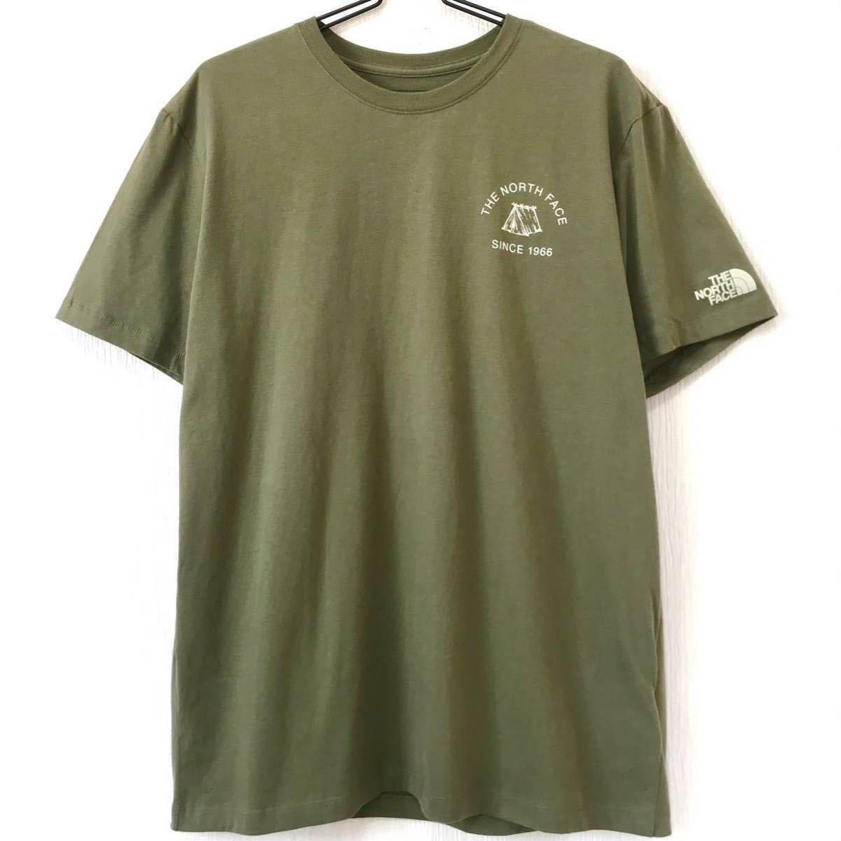 アウトドア系 新品 ノースフェイス キャンプ Tシャツ オリーブ XXL 3L 2XL ビッグサイズ 可愛い ワンポイント テント シンプル ナチュラル