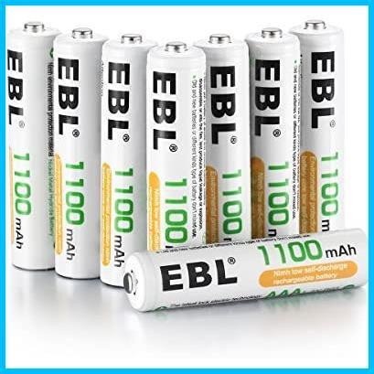 【ラスト1点】単4形充電池 充電式ニッケル水素電池 高容量1100mAh EBL NA9930 8本入り 約1200回使用可能 ケース2個付き 単四充電池_画像1