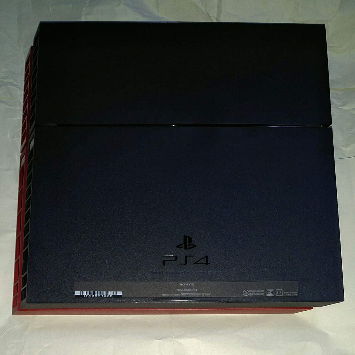 動作確認済み PS4 メタルギアソリッド 限定版 本体 MGSV TPP LIMITED EDITION 赤 物理ボタン