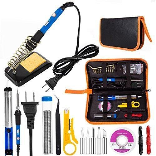 新品12点セット EletecPro はんだごて セット 温度調節可能 60w ハンダゴテ 12-in-1 セット M4EK_画像1