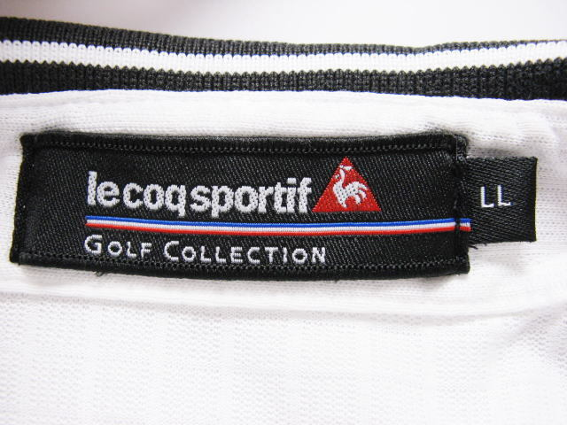 le coq sportif GOLF COLLECTION ルコックゴルフ 半袖ポロシャツ LLサイズ XL 2L O_画像4