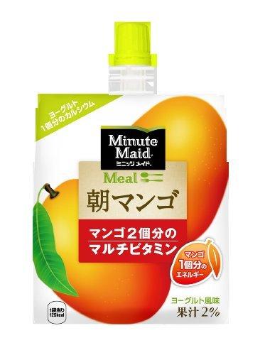 コカ・コーラ ミニッツメイド 朝マンゴ ゼリー飲料 パウチ 180g×6個_画像1