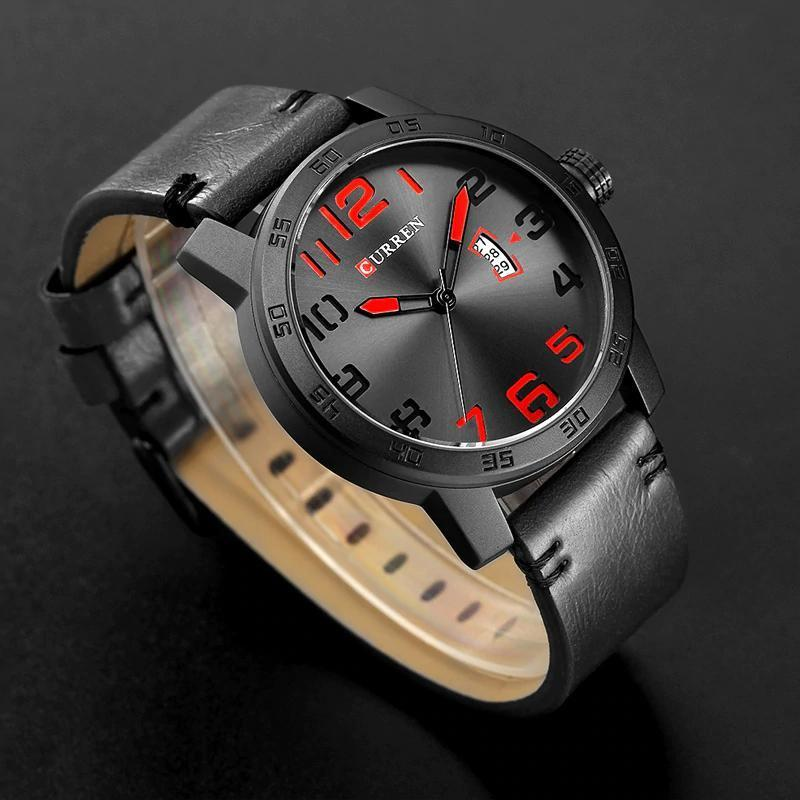 【中古売ります】【最安値に挑戦】新しい高級ブランドカレン男性スポーツ腕時計メンズクォーツ時計男陸軍軍事革腕時計レロジオmasculino_画像5