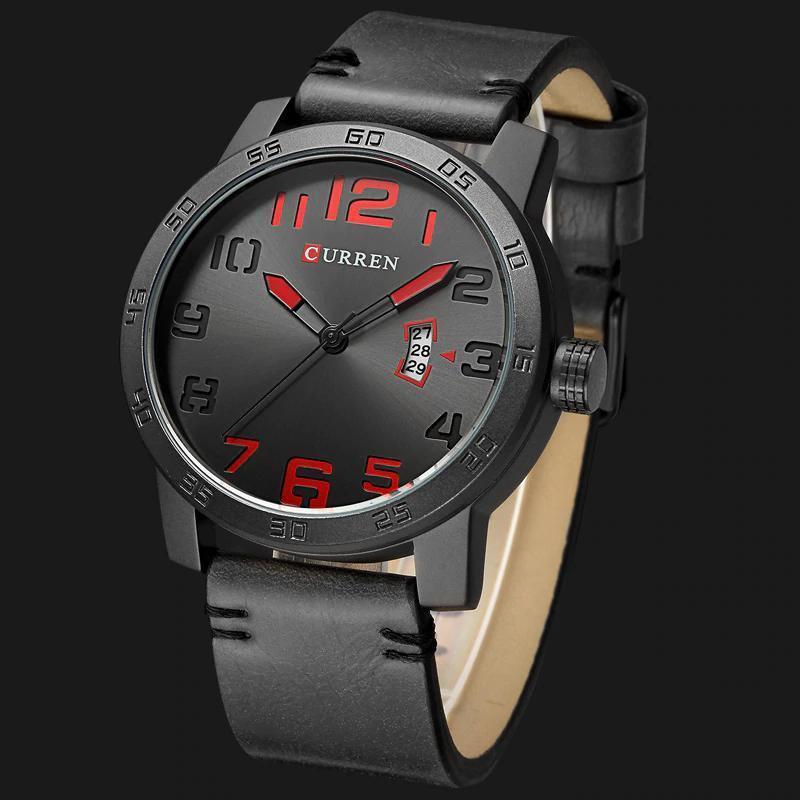 【中古売ります】【最安値に挑戦】新しい高級ブランドカレン男性スポーツ腕時計メンズクォーツ時計男陸軍軍事革腕時計レロジオmasculino_画像3