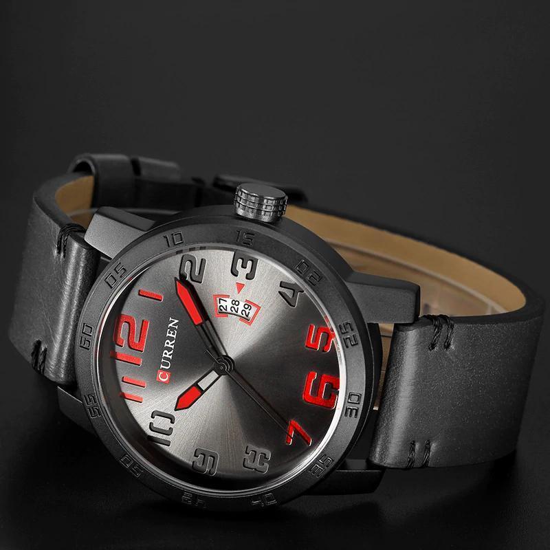 【中古売ります】【最安値に挑戦】新しい高級ブランドカレン男性スポーツ腕時計メンズクォーツ時計男陸軍軍事革腕時計レロジオmasculino_画像4