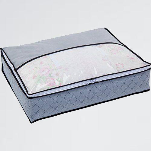 新品 未使用 羽毛布団 アストロ Q-3Z コンパクト 171-41 収納袋 シングル用 グレ- 不織布 活性炭消臭_画像1