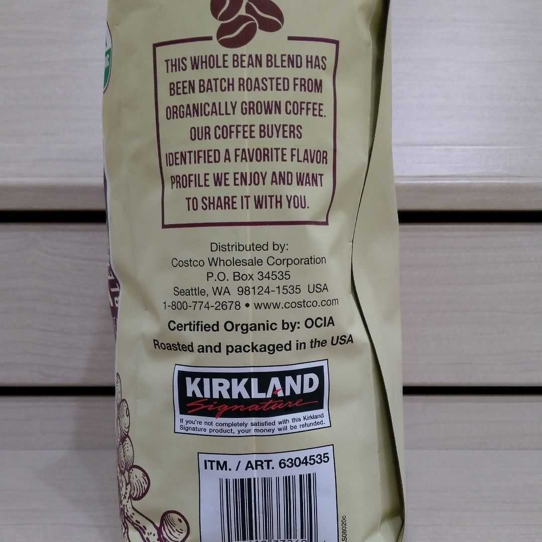 コストコ カークランド オーガニック コーヒー豆 907g 1袋