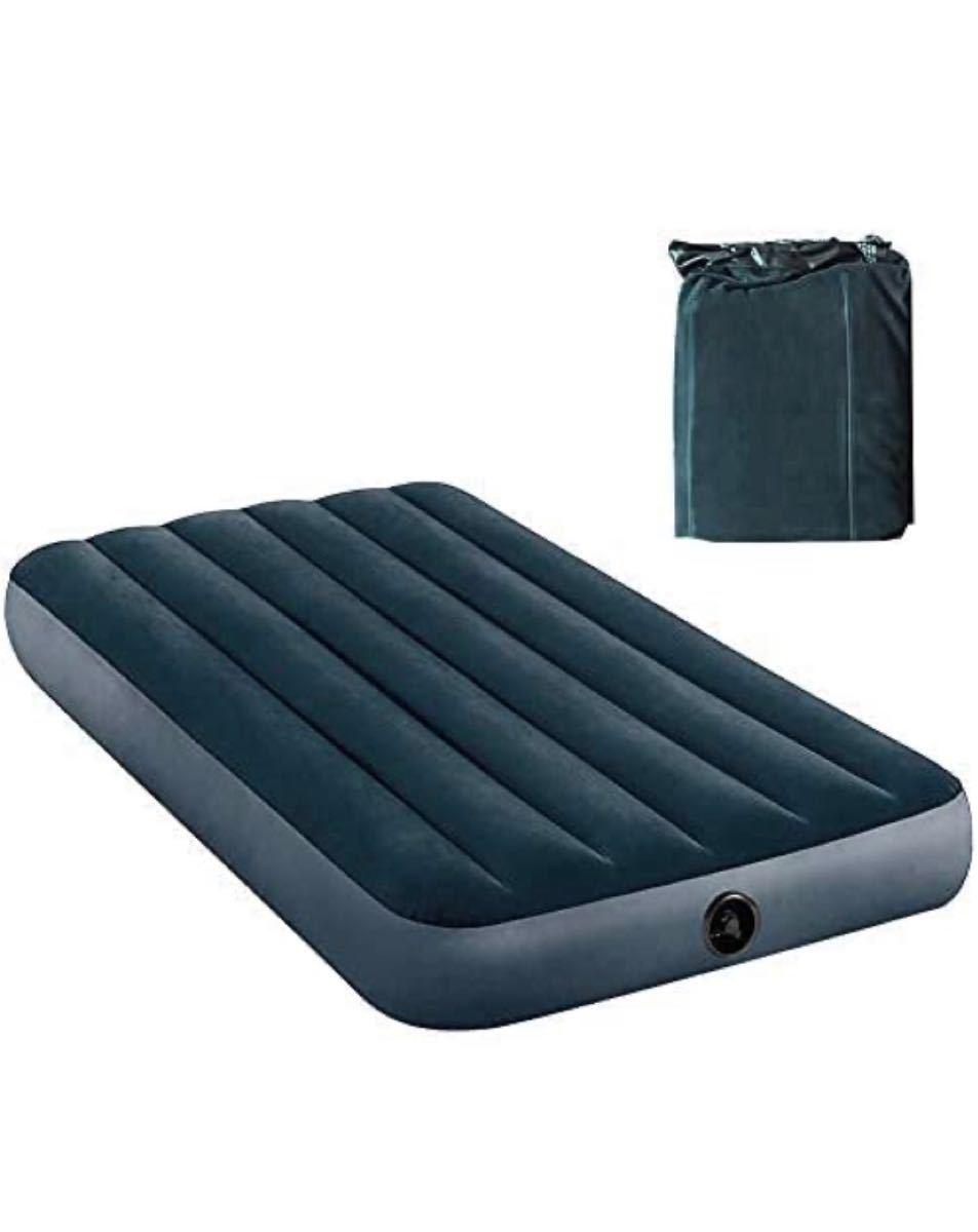 エアーベッド キャップ シングル 簡易ベッド マット アウトドアベッド 約191×99×25cm 耐荷重300kg 防水加工