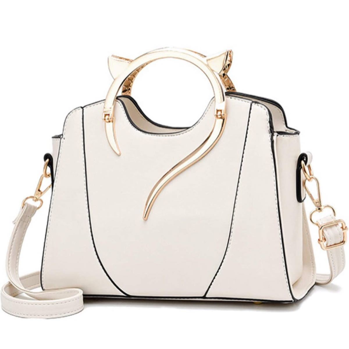 専用   バッグ ハンドバッグ ショルダーバッグ 斜めがけ 猫耳 2way ハンド ショルダー 猫 ネコ レディース ホワイト 白