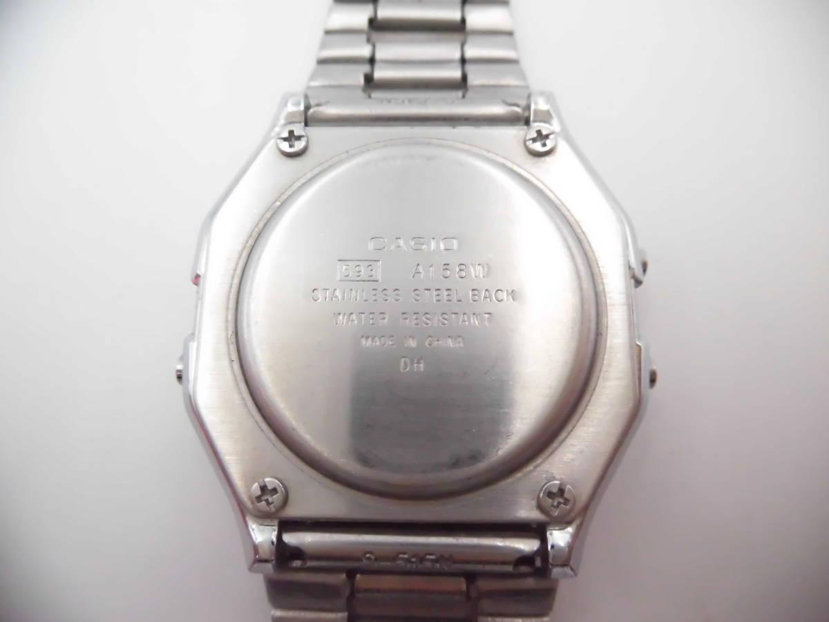 ☆ YMK175 CASIO カシオ チープカシオ デジタル 腕時計 生活防水 A158W ☆_画像10