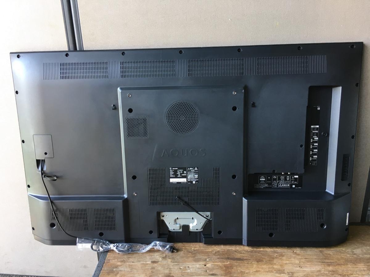 シャープ 4T-C60CN1 BS/CS 4K内蔵液晶テレビ AQUOS(アクオス) CN1シリーズ 60V型 4Kダブルチューナー内蔵 液晶割れジャンク品_画像4
