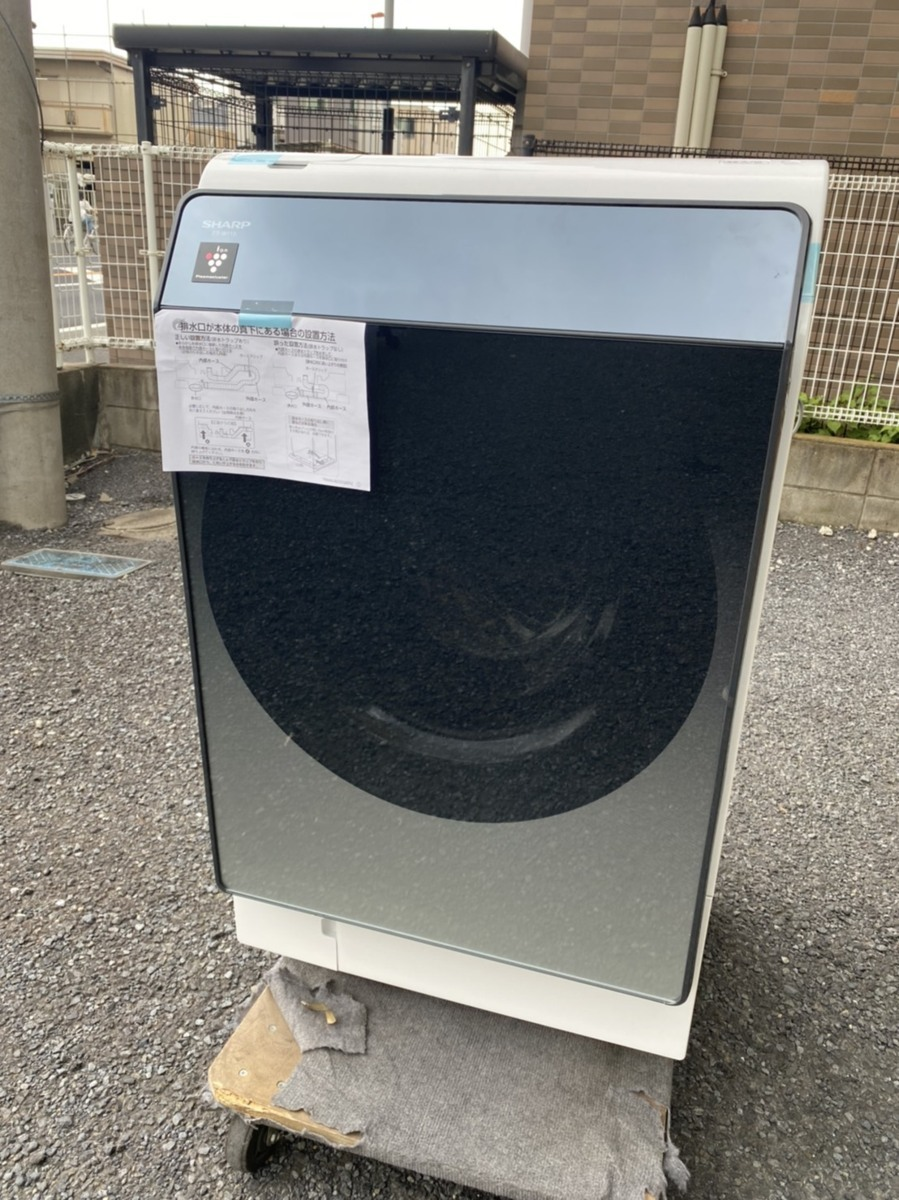 シャープ ES-W113-SR ドラム式洗濯機[洗濯機11.0kg/乾燥6.0kg/ヒートポンプ乾燥/右開き] シルバー系 2021年製造 輸送事故品