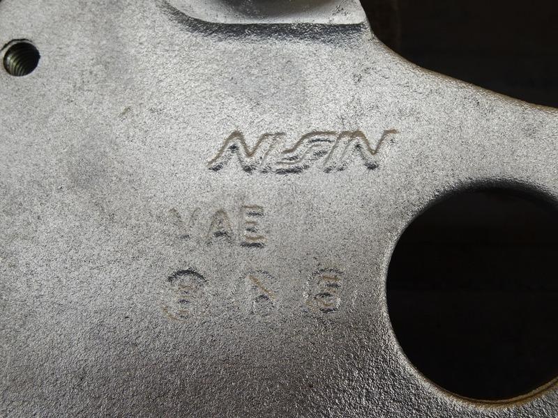 【210722】ホーネット250(MC31)◇ リアブレーキキャリパーサポート(2) ウェットブラスト施工済み!!_画像8