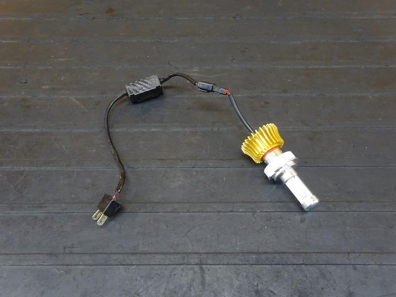 【210714】■ LEDヘッドライトバルブ(5) スフィアライト RIZING ライジング H7 ジャンク!?_画像1