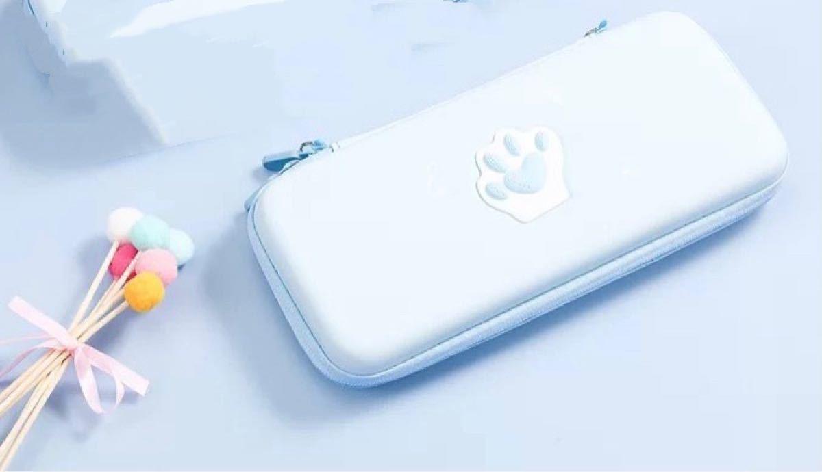 任天堂switch収納キャリングポーチ ニンテンドースイッチ猫肉球保護ケース ショルダー&ハンドストラップ付き