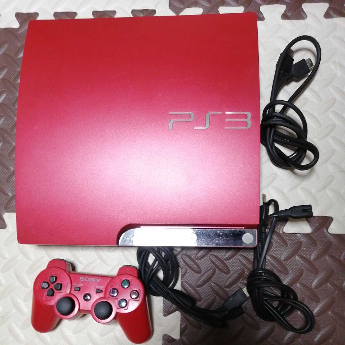 美品 動作良好 PS3 本体 スカーレット レッド320GB★cech3000b★赤 アカ scarlet red プレステ3 PlayStation3 プレイステーション3 HDMI付