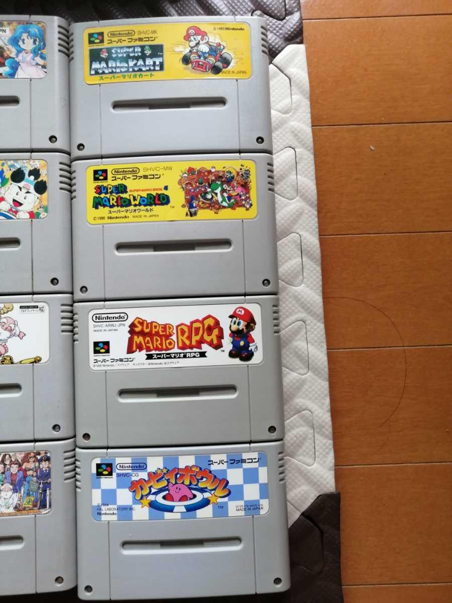 美品 日焼け無 任天堂 スーパーファミコン本体一式 ソフト12本 SFC 付属品完備 完動良品 動作確認済 すぐ遊べる マリオ 桃鉄 人生劇場