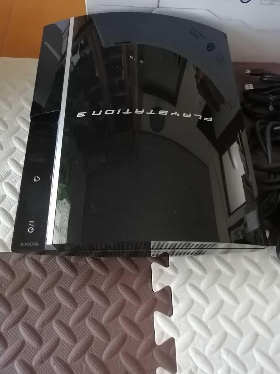 極美品 PS3 初期型 CECHL00 黒 SONY プレイステーション3 PlayStation3 本体一式 80GB ブラック 動作確認済 日本製 Made in Japan