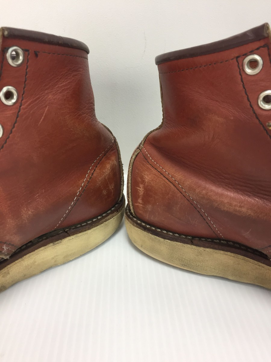 RED WING◆8875/レースアップブーツ・6インチクラシックモックトゥ/US9/RED_画像8