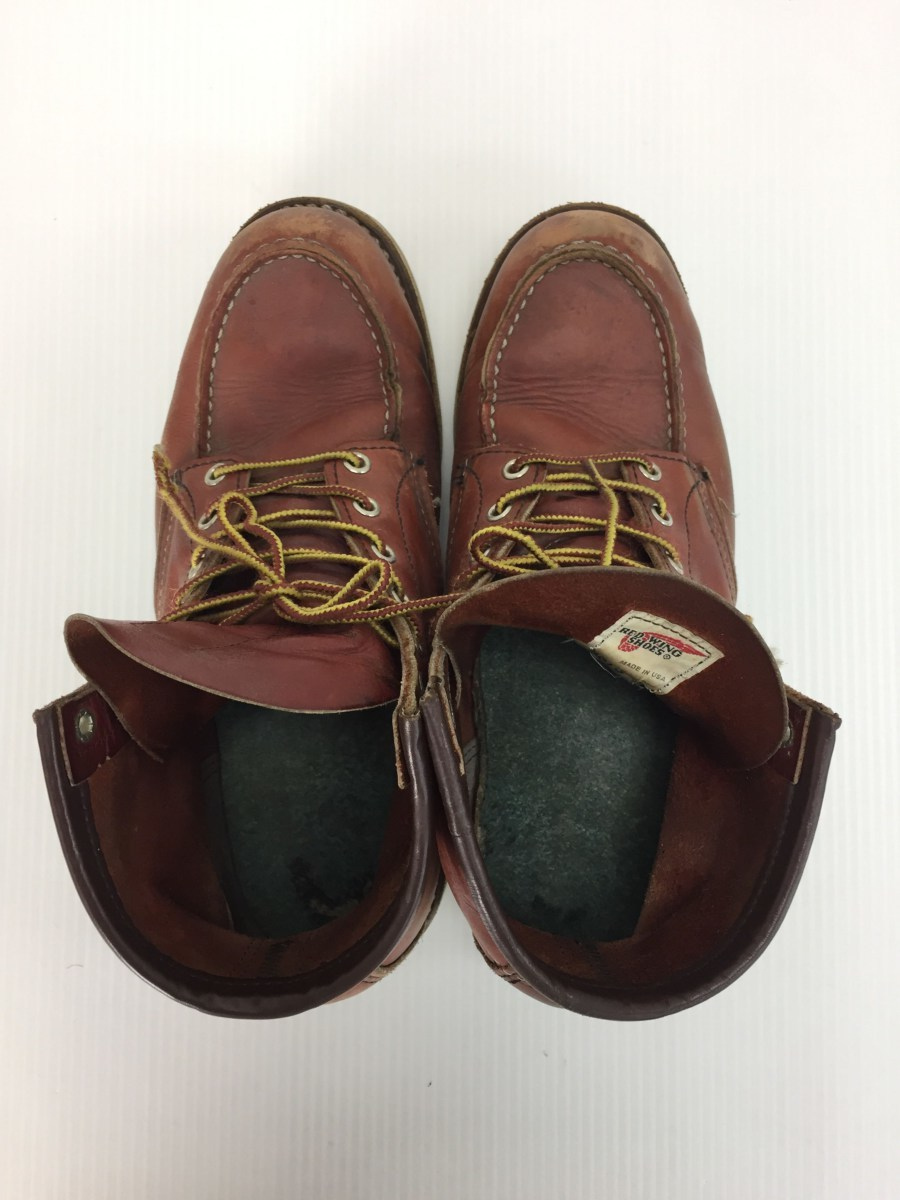 RED WING◆8875/レースアップブーツ・6インチクラシックモックトゥ/US9/RED_画像4