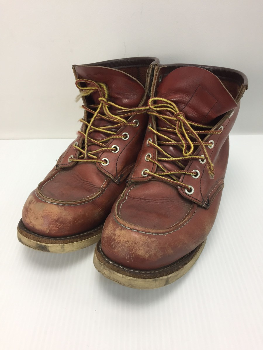 RED WING◆8875/レースアップブーツ・6インチクラシックモックトゥ/US9/RED_画像1