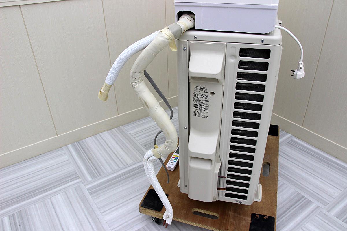 18年製 超美品!日立 白くまくん ステンレスクリーン 最上位機種 ルームエアコン 単相200V 5.6kw 20畳 家庭用 ハイパワー大型 RAS-X56H2_画像3