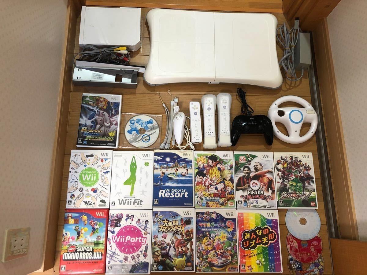Wii豪華セット まとめ売り Wiiボード クラコン ハンドル リズム天国 マリオパーティ9 モーションプラス ヌンチャク