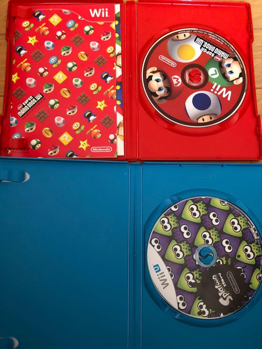 スプラトゥーン スーパーマリオブラザーズ Wii WiiU 2本セット