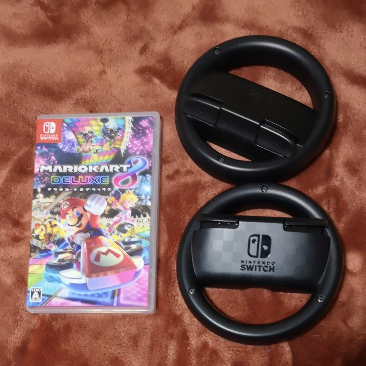 【Switch】 マリオカート8 デラックス Joy-Conハンドル ジョイコンハンドル Nintendo Switchソフト