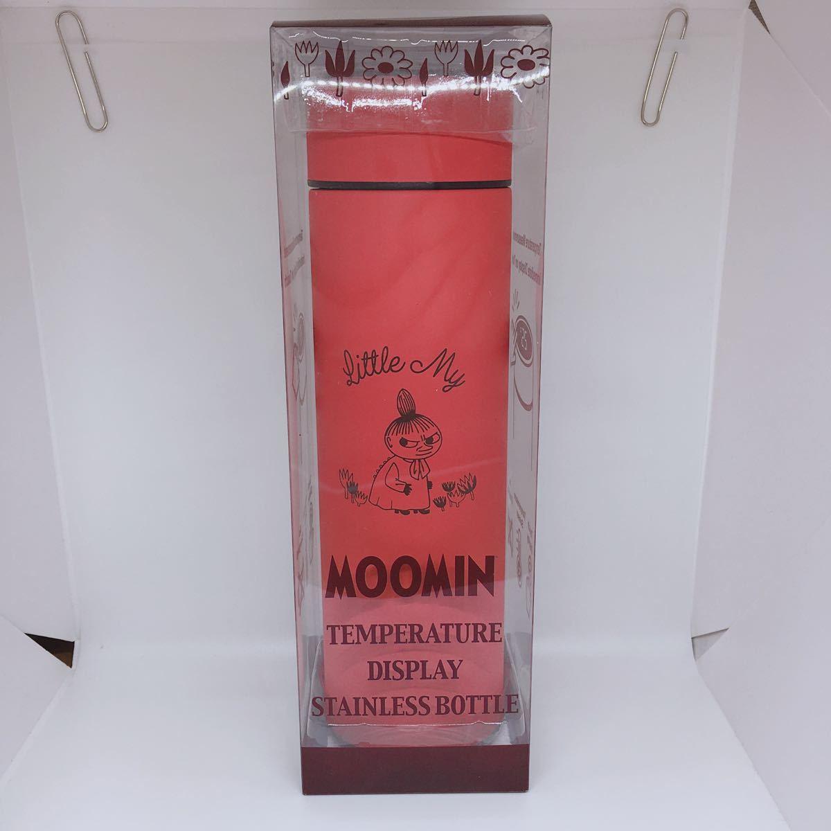 ムーミン 温度表示付 ステンレスボトル マグボトル ミー 赤 保温 保冷 大容量500ml