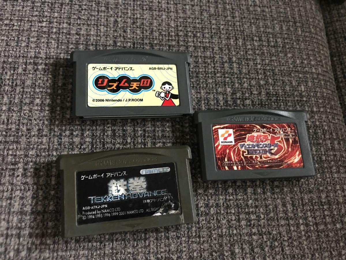 GBA ゲームボーイアドバンス ソフト リズム天国 鉄拳アドバンス 遊戯王5