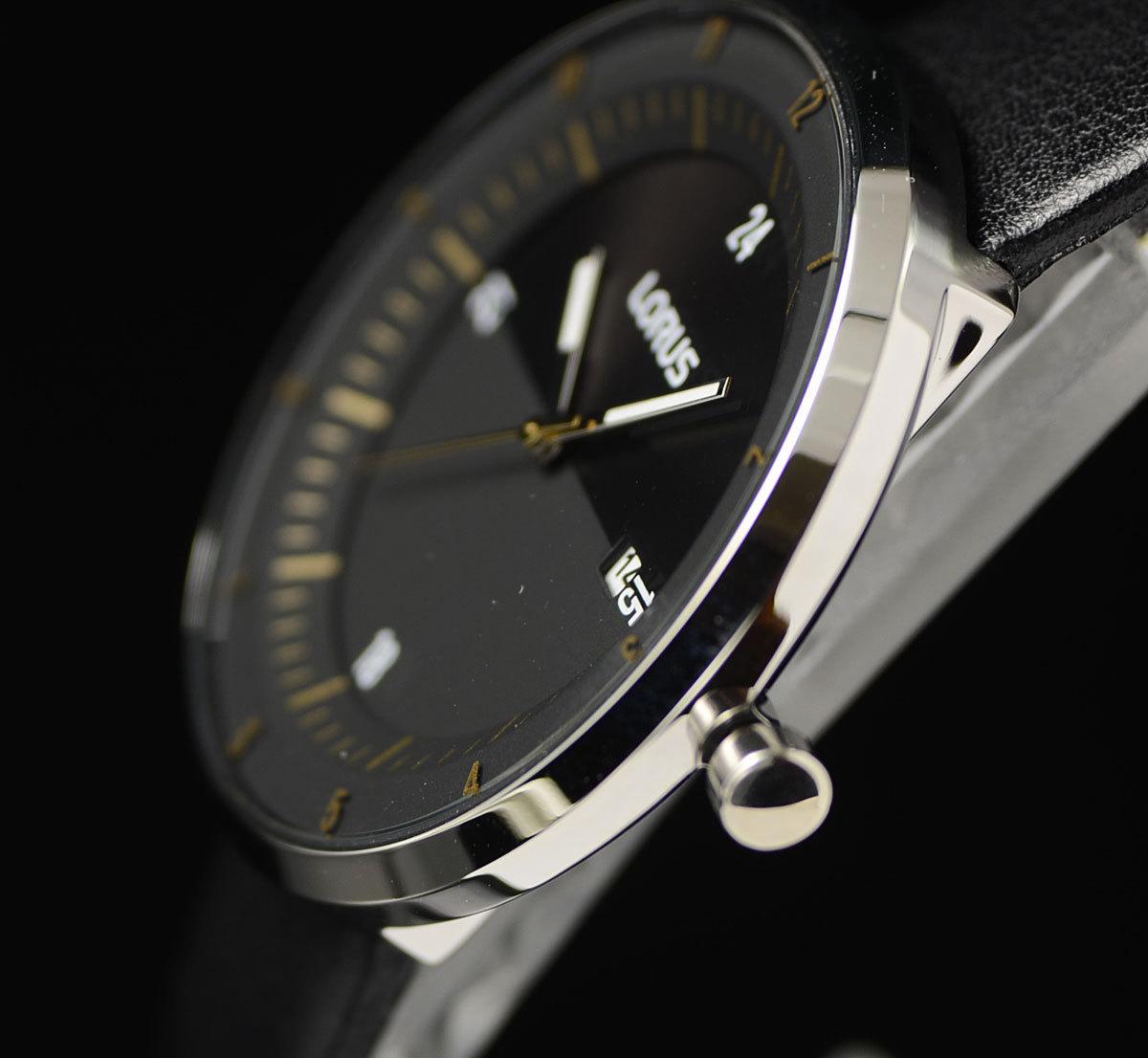 1円×3本セイコーLORUS無駄削ぎ落したシンプルで飽きの来ないデザイン逆輸入ブラック 腕時計 50m防水 新品メンズ日本未発売SEIKOローラス_画像5