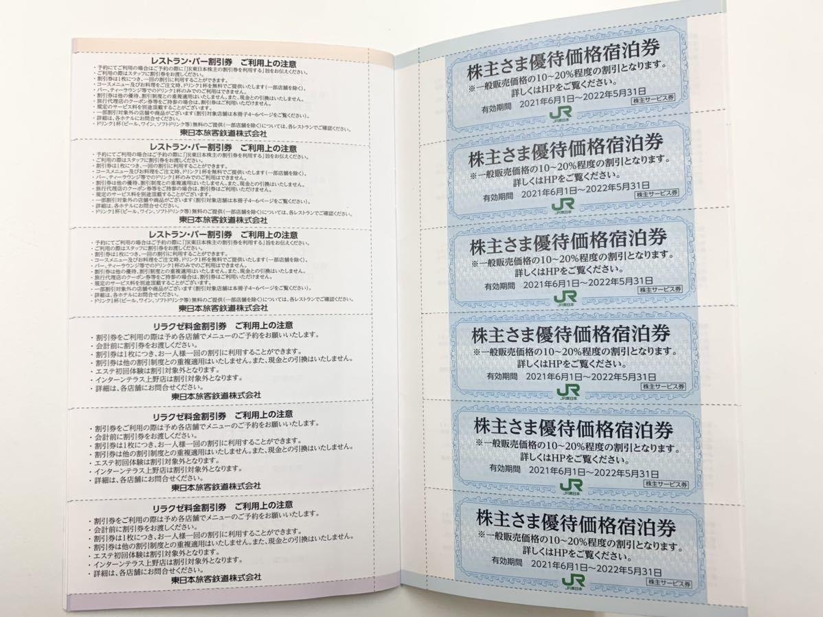 東日本旅客鉄道株式会社 株主サービス券 有効期限2021年6月1日~2022年5月31日まで 全券未使用 宿泊優待券 割引券_画像6