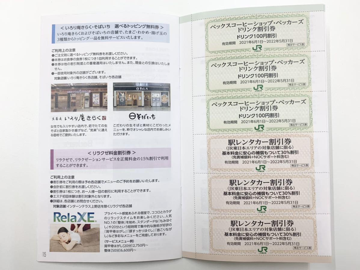 東日本旅客鉄道株式会社 株主サービス券 有効期限2021年6月1日~2022年5月31日まで 全券未使用 宿泊優待券 割引券_画像3